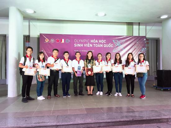 The Chemistry Olympiad team received the awards
