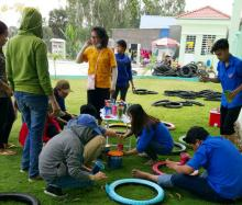 "AGU Union membership created ""Recycling Playground"" for pupils in remote areas"