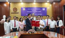 MOU signign between An Giang University and Okayama Univeristy