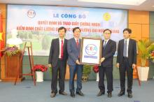 Center for Education Accreditation (CEA), Vietnam National University (VNU) Ho Chi Minh City organised the ceremony to present the certificate of accreditation to An Giang University