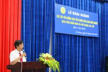 Assoc. Prof. Dr. Vo Van Thang presented his remarks