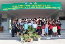 AGU students welcomed the delegates and students of YuhanU
